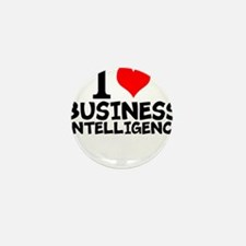 I Love Business Intelligence Mini Button