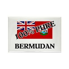 100 Percent BERMUDAN Rectangle Magnet