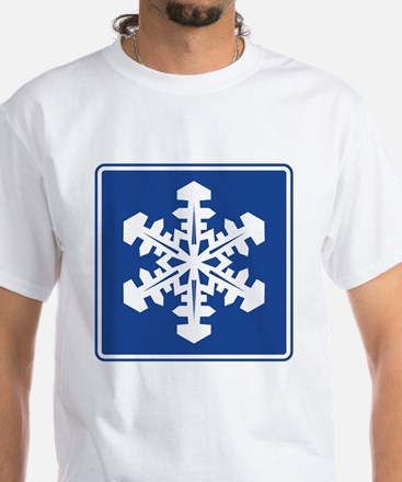 Winter Recreation Area Sign White T-Shirt