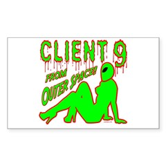 Client 9 From Outer Space Rectangle Decal