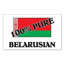 100 Percent BELARUSIAN Rectangle Decal