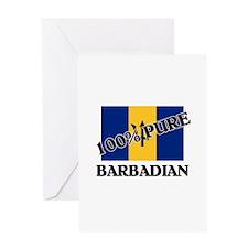 100 Percent BARBADIAN Greeting Card