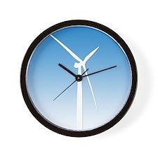 Turbine Wind Power Energy Wall Clock