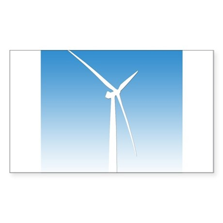 Turbine Wind Power Energy Rectangle Sticker