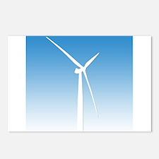 Turbine Wind Power Energy Postcards (Package of 8)