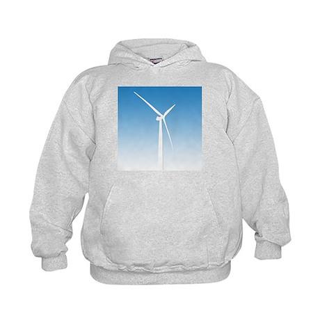 Turbine Wind Power Energy Kids Hoodie