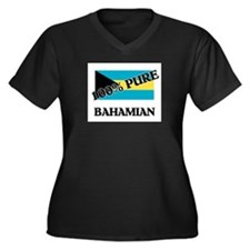 100 Percent BAHAMIAN Women's Plus Size V-Neck Dark