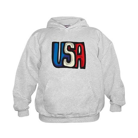USA big letters Kids Hoodie