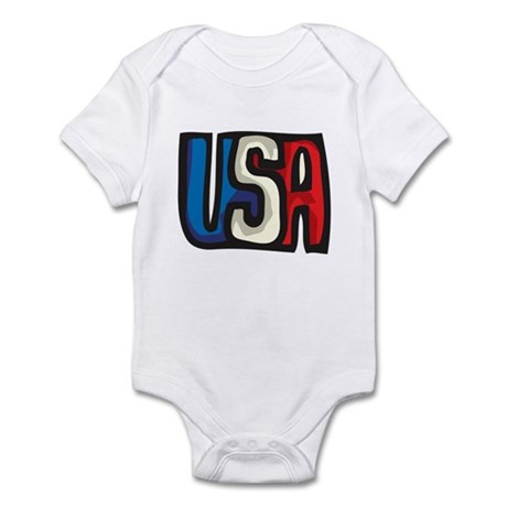 USA big letters Infant Bodysuit