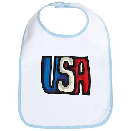 USA big letters Bib
