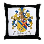 Hablutzel Family Crest Throw Pillow