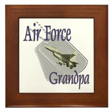 Jet Air Force Grandpa Framed Tile