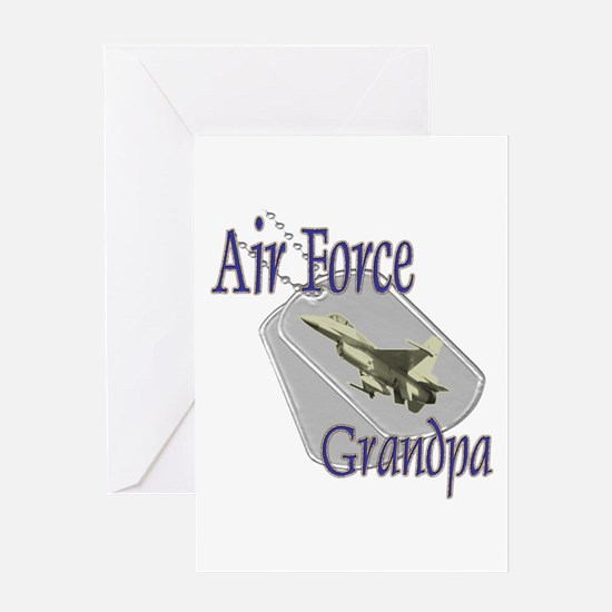 Jet Air Force Grandpa Greeting Card