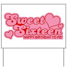 Sweet Sixteen Birthday Retro Yard Sign