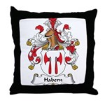 Habern Family Crest Throw Pillow