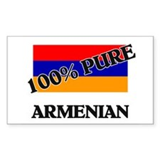 100 Percent ARMENIAN Rectangle Decal