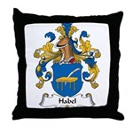 Habel Family Crest Throw Pillow