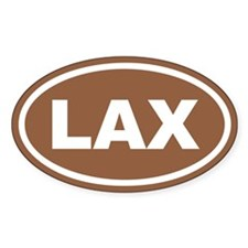 Brown Lax Euro Oval Decal