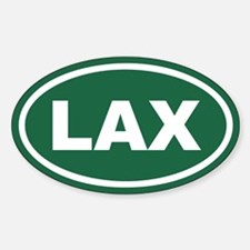 Green LAX Euro Oval Decal