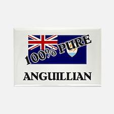 100 Percent ANGUILLIAN Rectangle Magnet