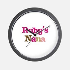 Ruby's Nana Wall Clock