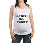 Baby Coming This Winter Maternity Tank Top