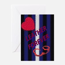 BRAIDED LEATHER 4EVER/VERTICA Greeting Card