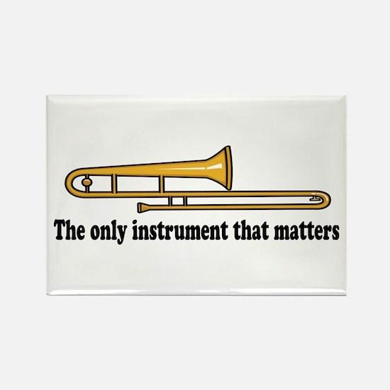 Funny Trombone Rectangle Magnet