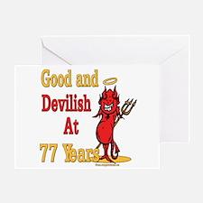 Devilish at 77 Greeting Card