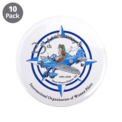 "Women Pilots 3.5"" Button (10 pack)"