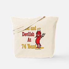 Devilish at 74 Tote Bag
