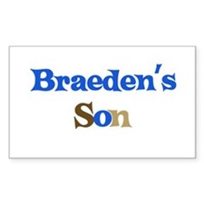 Braeden's Son Rectangle Decal