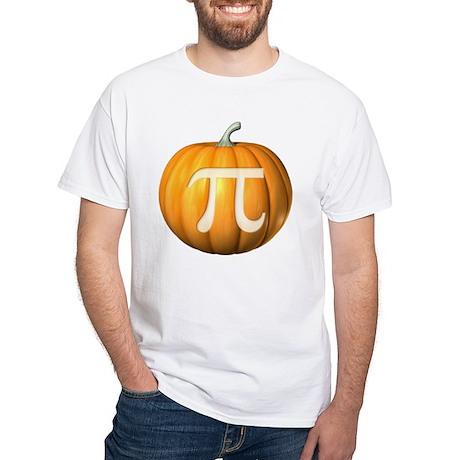Pumpkin Pi White T-Shirt