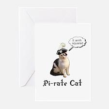 Pi-rate Cat Greeting Cards (Pk of 10)