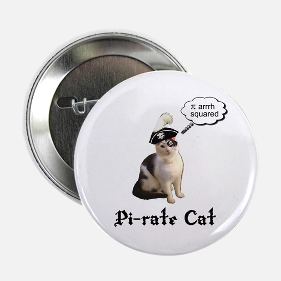 """Pi-rate Cat 2.25"""" Button (10 pack)"""