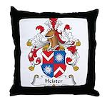 Heister Family Crest Throw Pillow