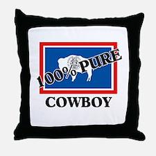 100 Percent Cowboy Throw Pillow