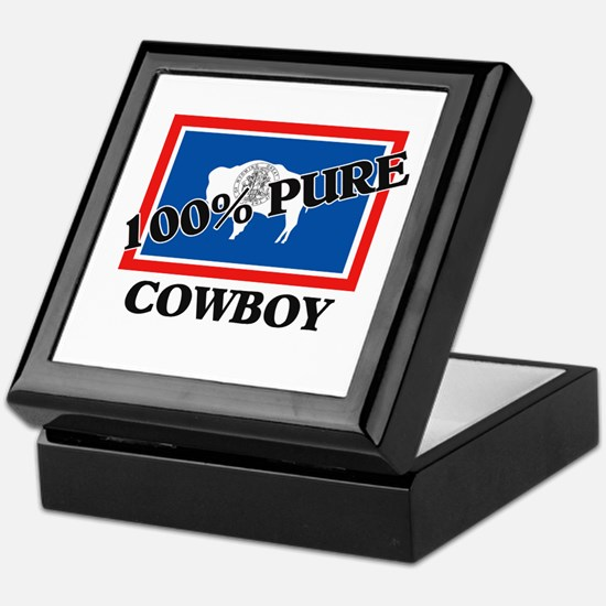 100 Percent Cowboy Keepsake Box