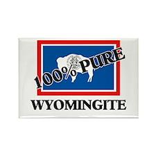 100 Percent Wyomingite Rectangle Magnet
