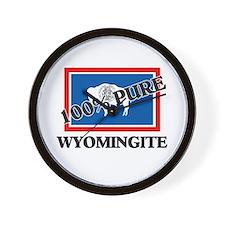 100 Percent Wyomingite Wall Clock