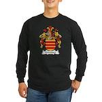 Heimburg Family Crest Long Sleeve Dark T-Shirt
