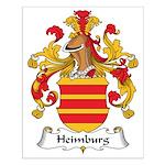 Heimburg Family Crest Small Poster