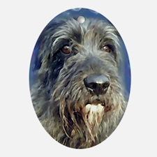 Unique Irish wolfhound Oval Ornament