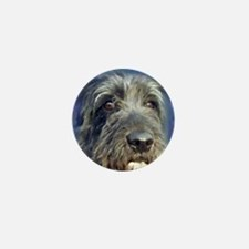 Unique Irish wolfhound painting Mini Button