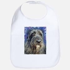 Unique Irish wolfhound art Bib