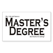 Master's Degree Rectangle Decal