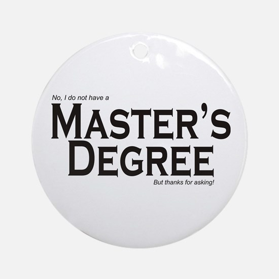 Master's Degree Ornament (Round)