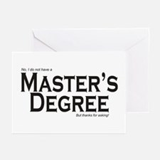 Master's Degree Greeting Cards (Pk of 20)