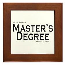 Master's Degree Framed Tile