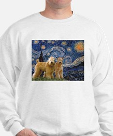 Starry Night & 2 Wheatens Sweatshirt
